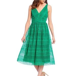 Antonio Melani Ruth Lace A-Line Midi Dress